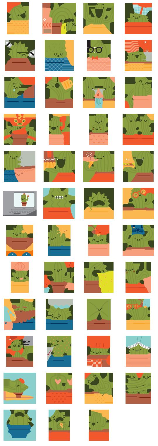 Prickly Pear Facebook Stickers