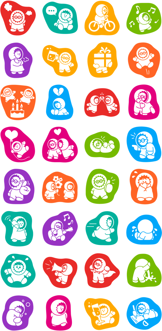 Anooki Facebook Stickers