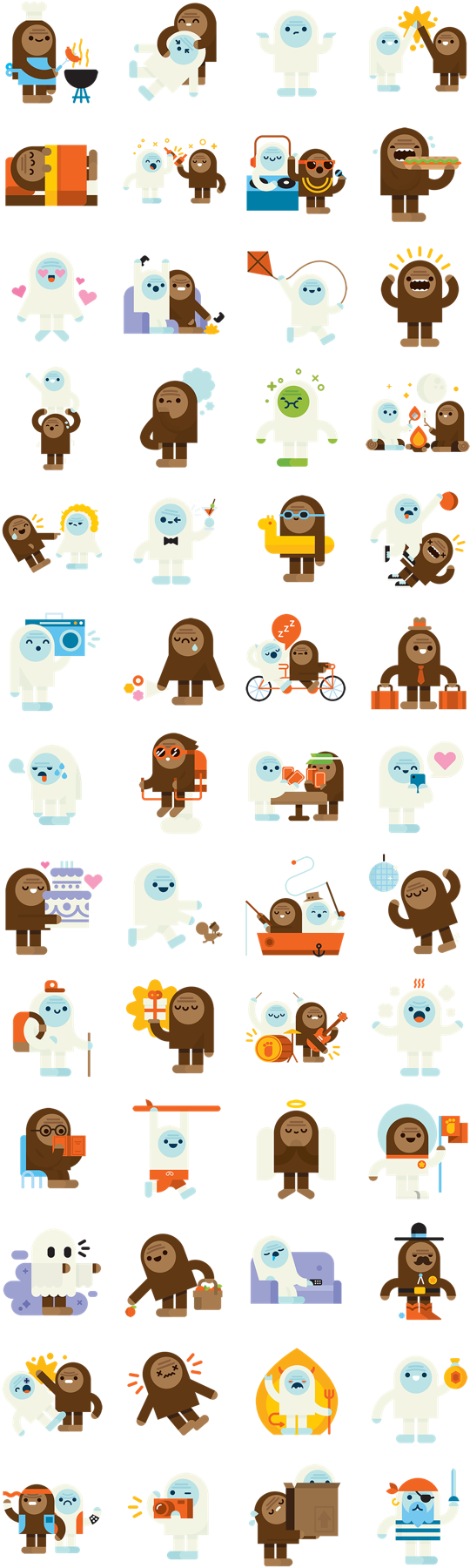 Bigs and Yeti Facebook Stickers