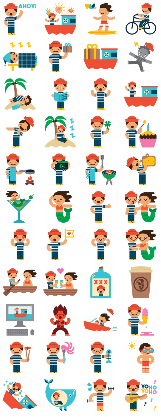 First Mate Facebook Stickers