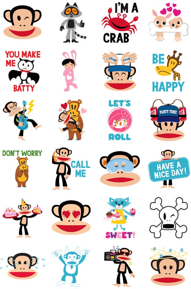 Paul Frank Facebook Stickers