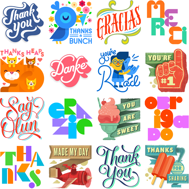 Say Thanks Facebook Stickers