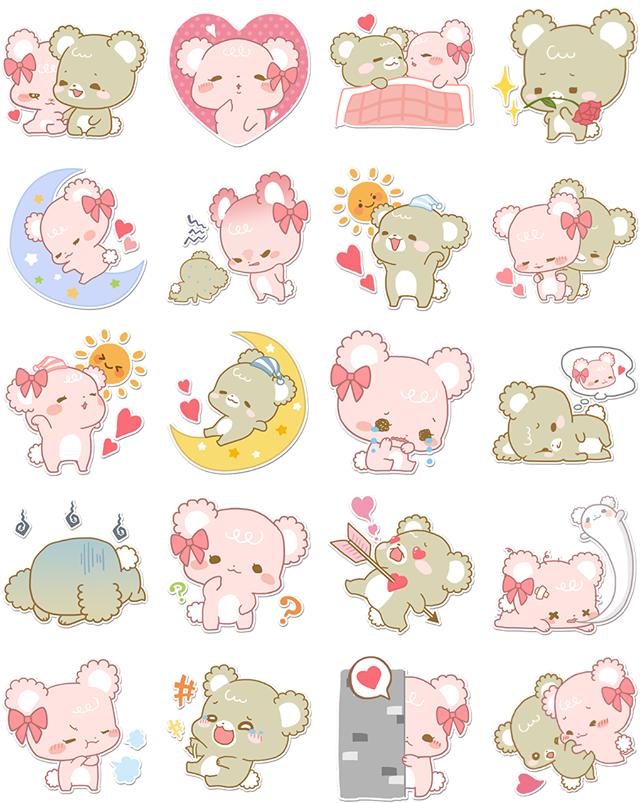 Sugar Cubs Facebook Stickers