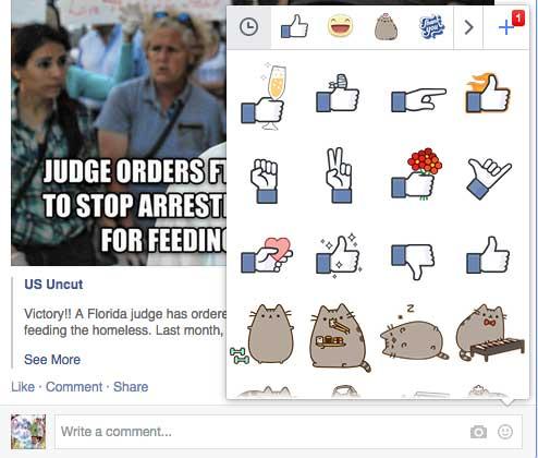 Stickers in Facebook Messaging