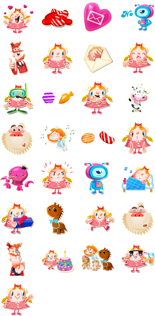 Candy Crush Facebook Stickers