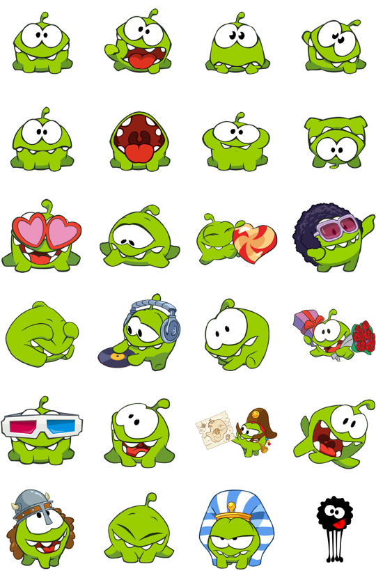 Cut The Rope Facebook Stickers