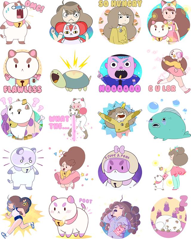 Bee & PuppyCat Facebook Sticker