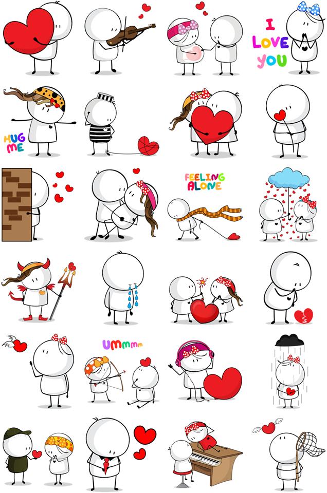 Bigli Migli Facebook Stickers