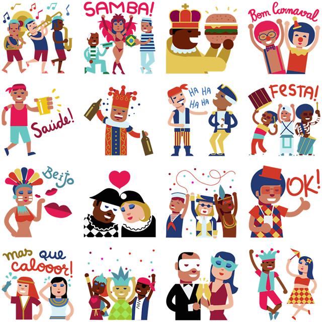 Carnival Facebook Stickers