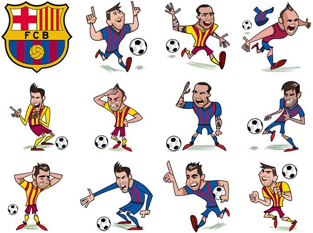 FC Barcelona Facebook Sticker