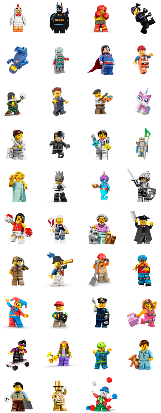 LEGO Minifigures Facebook Sticker