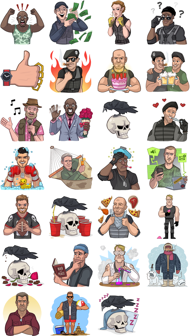 The Expendables 3 Facebook Stickers