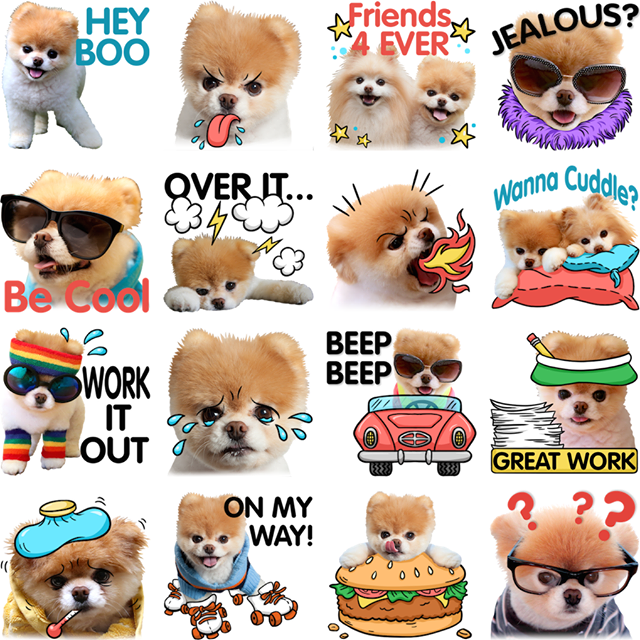 Boo and Buddy Facebook Sticker