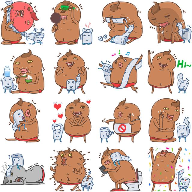 Unchi & Rollie Facebook Sticker
