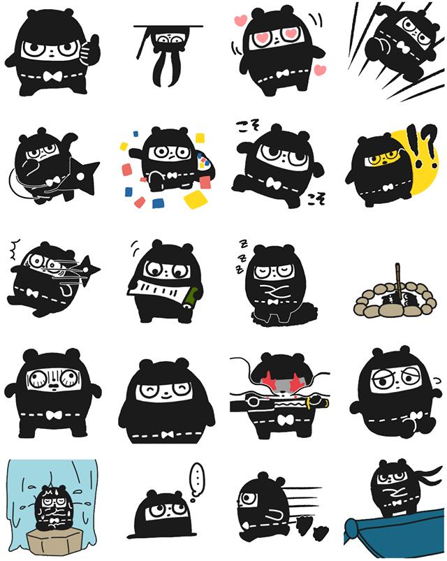 Ninja Bear Facebook Sticker