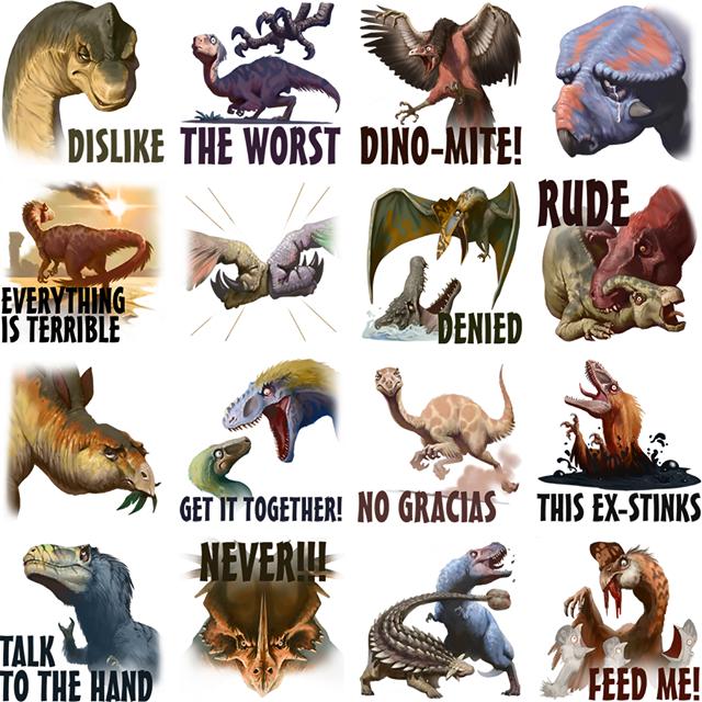 Downer Dinos Facebook Sticker