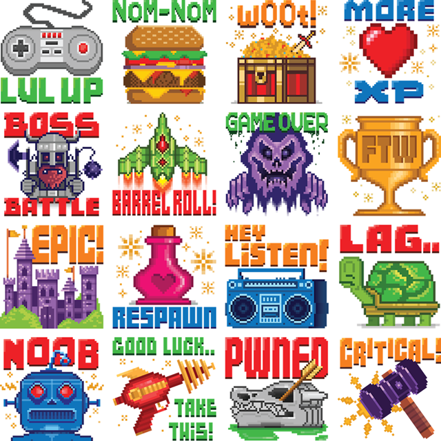 8-bits of Awesome Facebook Sticker