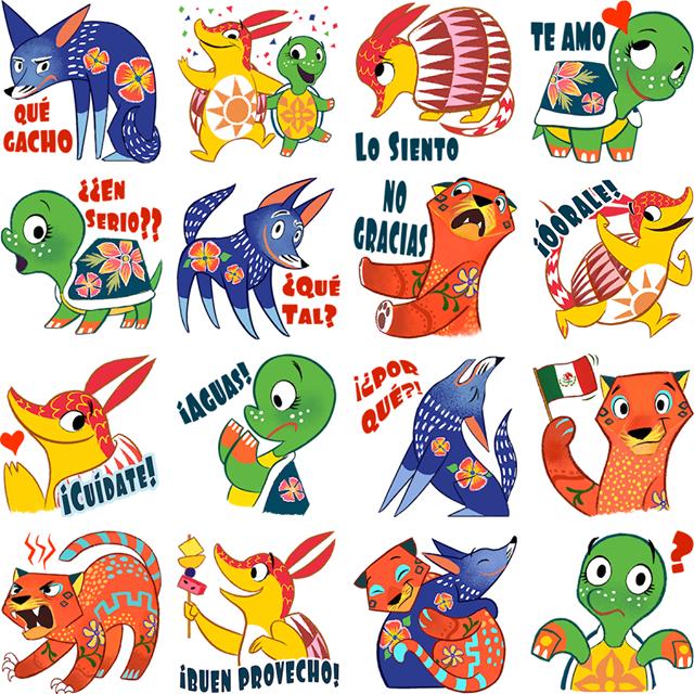 Amigos Alebrijes Facebook Stickers