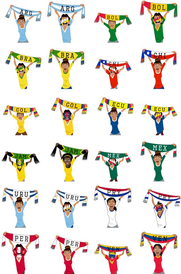 Copa America 2015 Facebook Sticker