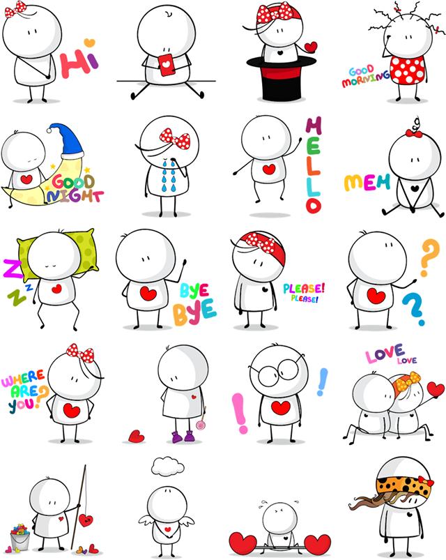 Love, Bigli Migli Facebook Sticker