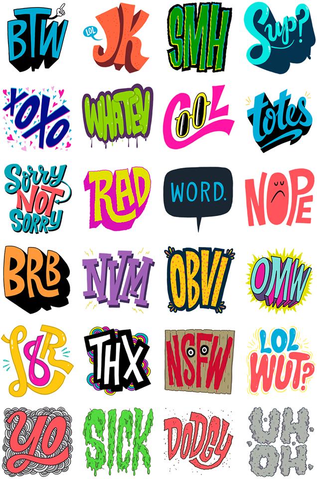 Tons of Text Facebook Sticker