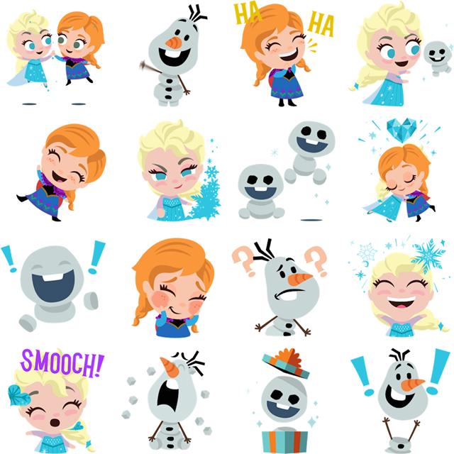 A Frozen celebration Facebook Stickers