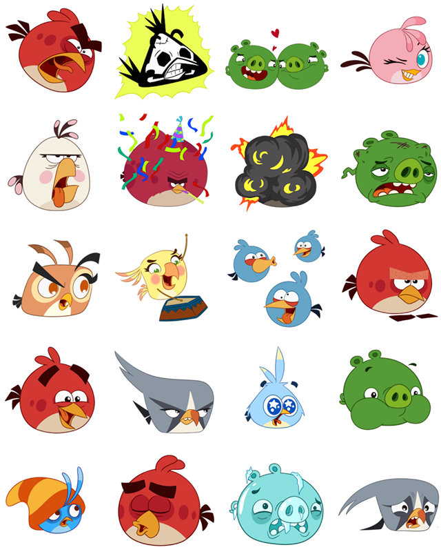 Angry Birds Facebook Stickers