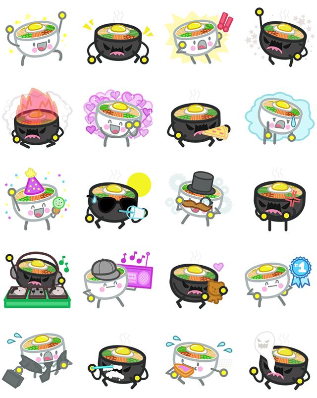Bibimbap Friends Facebook Stickers