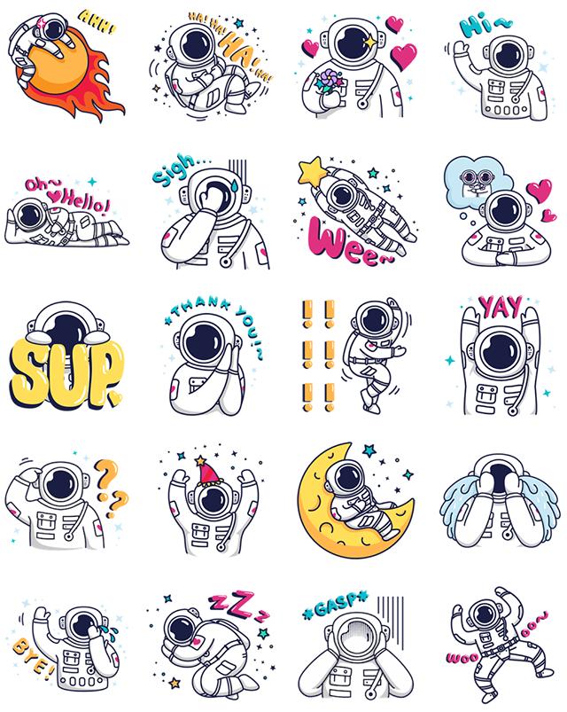 Cosmic Stranger Facebook Stickers