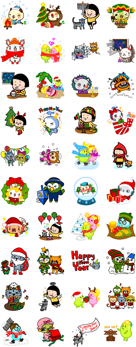 Funnyeve Holidays Facebook Stickers