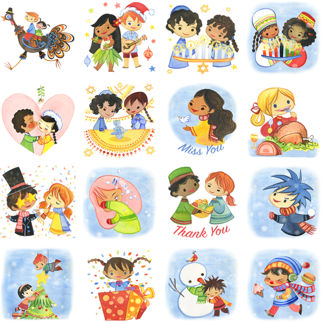 Holiday Cheer Facebook Stickers