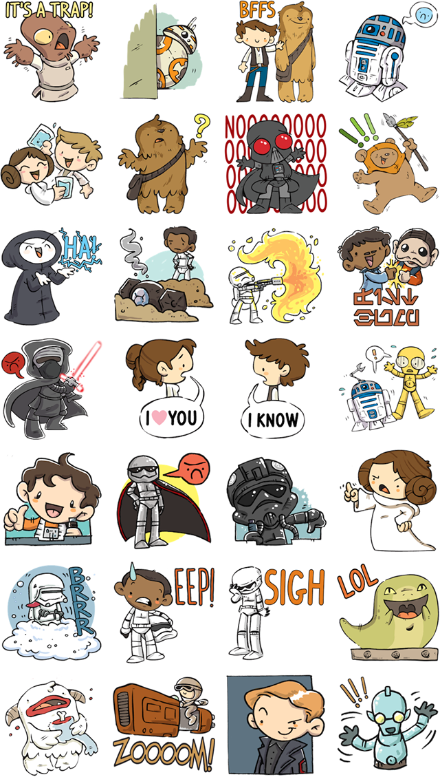 Star Wars The Force Awakens Facebook Stickers