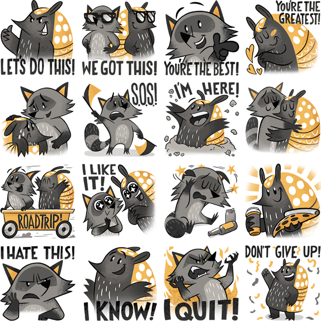 Best friends Facebook Stickers
