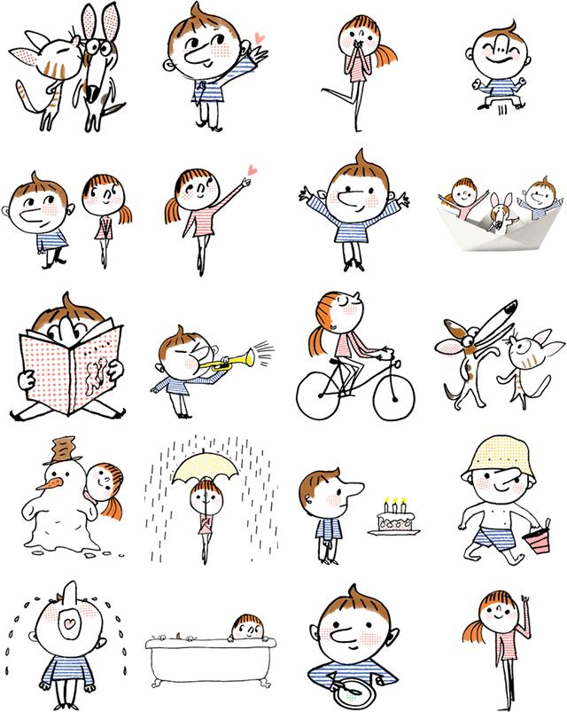 Little sailors Facebook Stickers