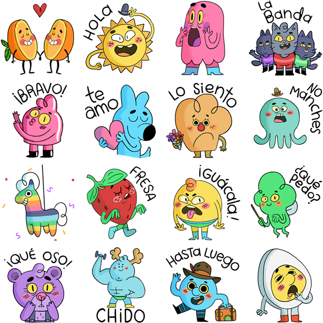 Little sweets Facebook Stickers