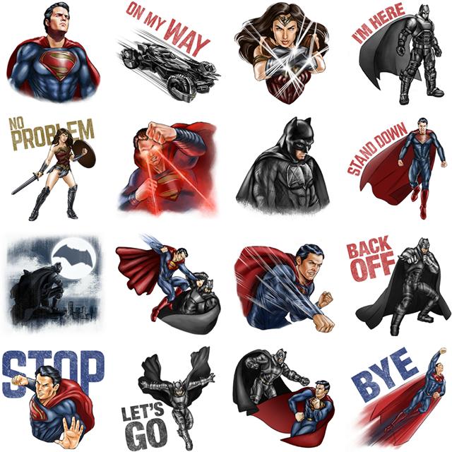 Batman V Superman Facebook Stickers