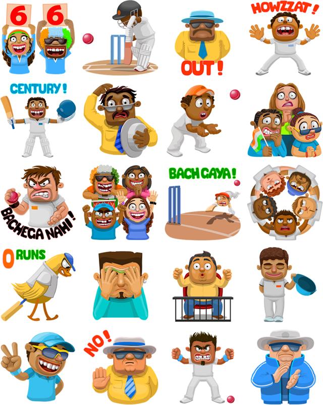 Cricket match-up Facebook Stickers