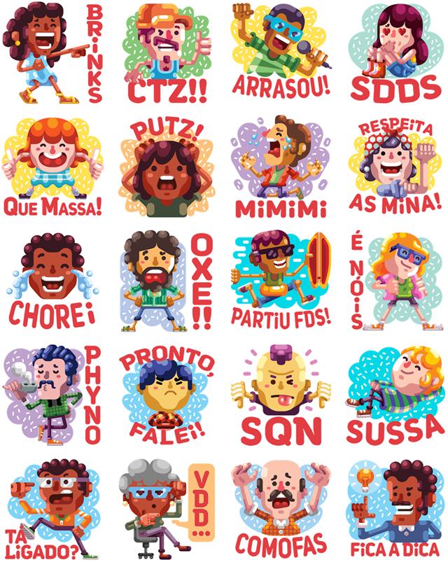 De boa Facebook Stickers