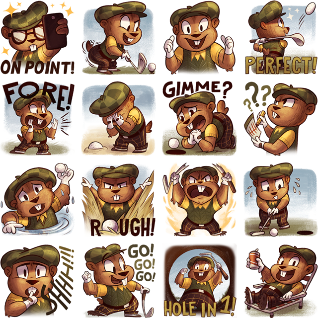 Gopher on the Green Facebook Stickers