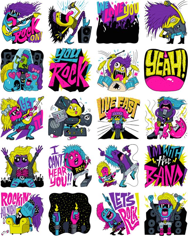 Hair Bandits Facebook Stickers