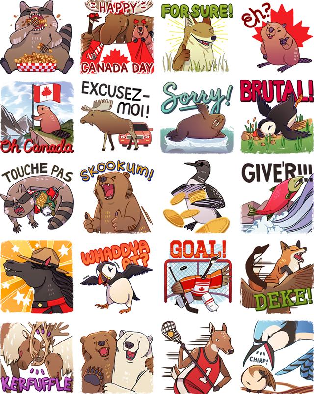 Keener Critters Facebook Stickers