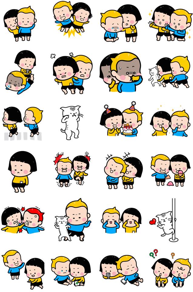 MiM & Yam Facebook Stickers