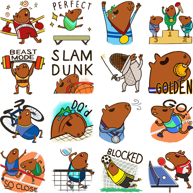 olympia Facebook Stickers