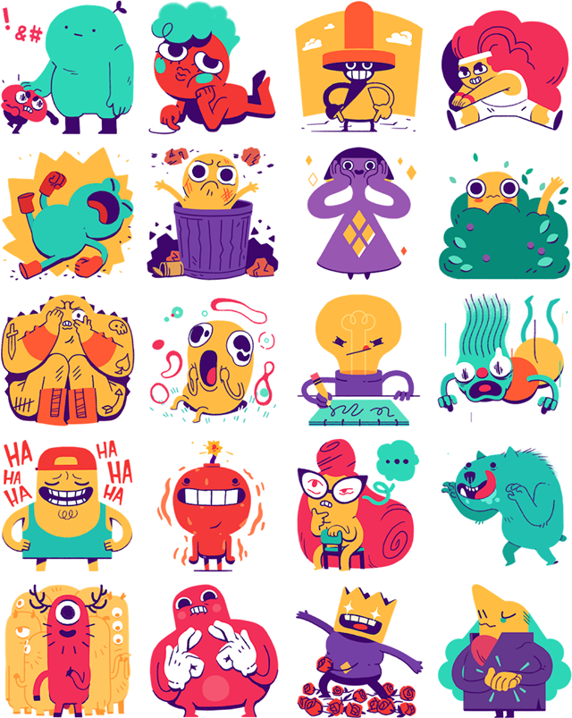 The Maladroits Facebook Stickers