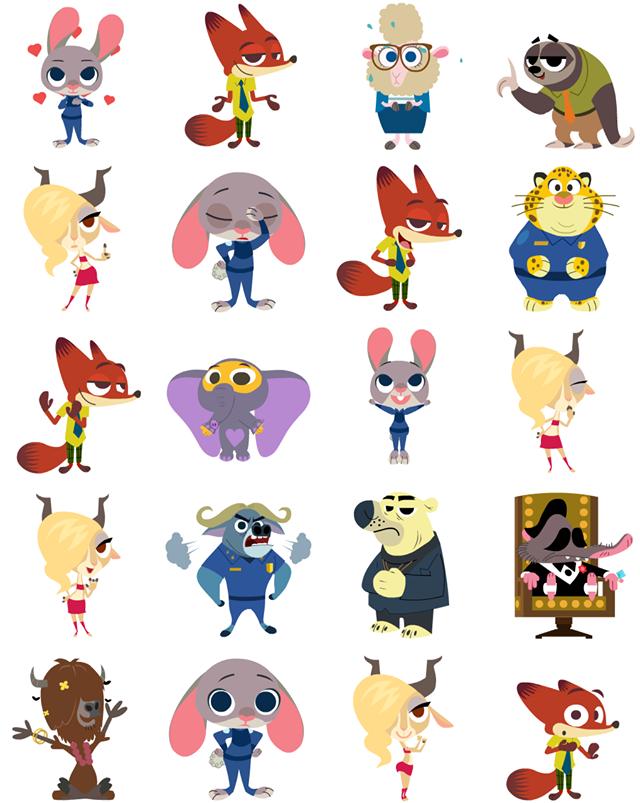 Zootropolis Facebook Stickers