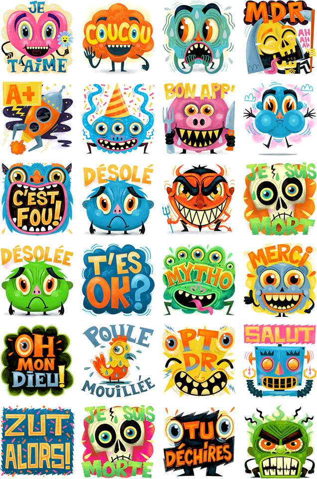 Zut alors Facebook Stickers