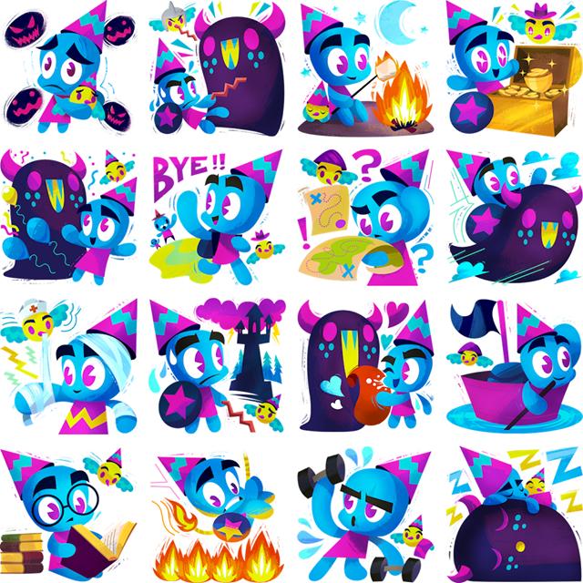Edmund J Wizard Facebook Stickers