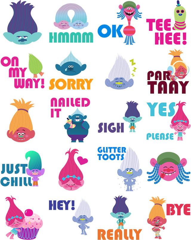 Trolls Facebook Stickers