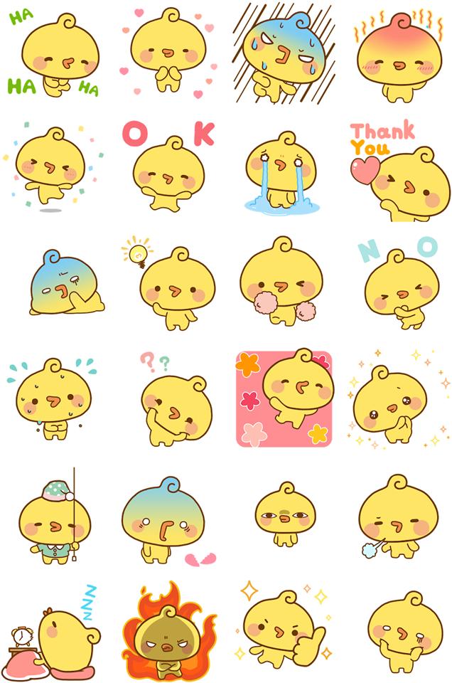 Playful Piyomaru Facebook Sticker