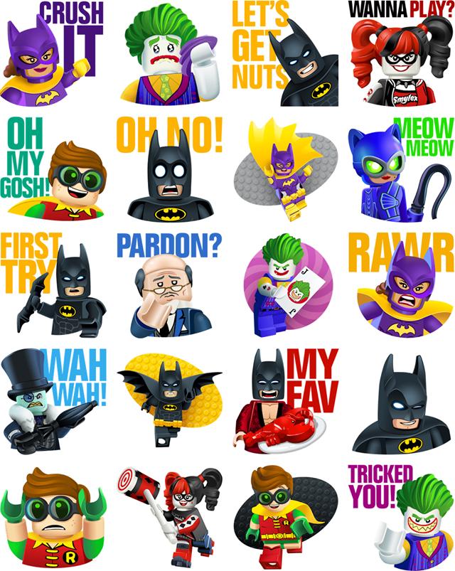 The LEGO Batman Movie Facebook Sticker